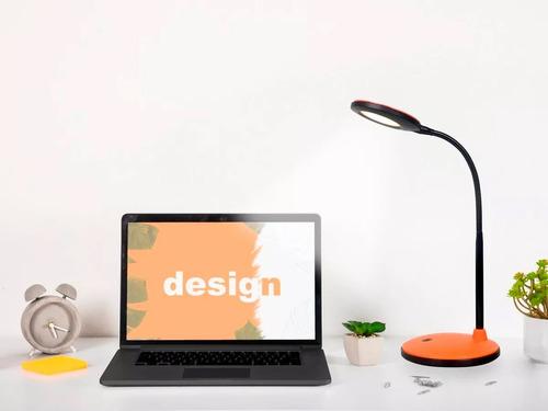 lámpara escritorio integra flexible 6w calido negro cuotas