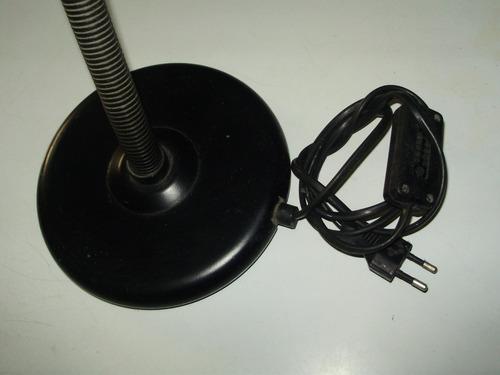 lampara escritorio metal plastico negro pase mignon funciona
