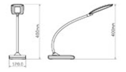 lampara escritorio moderna asap led dim candil cuotas s/int