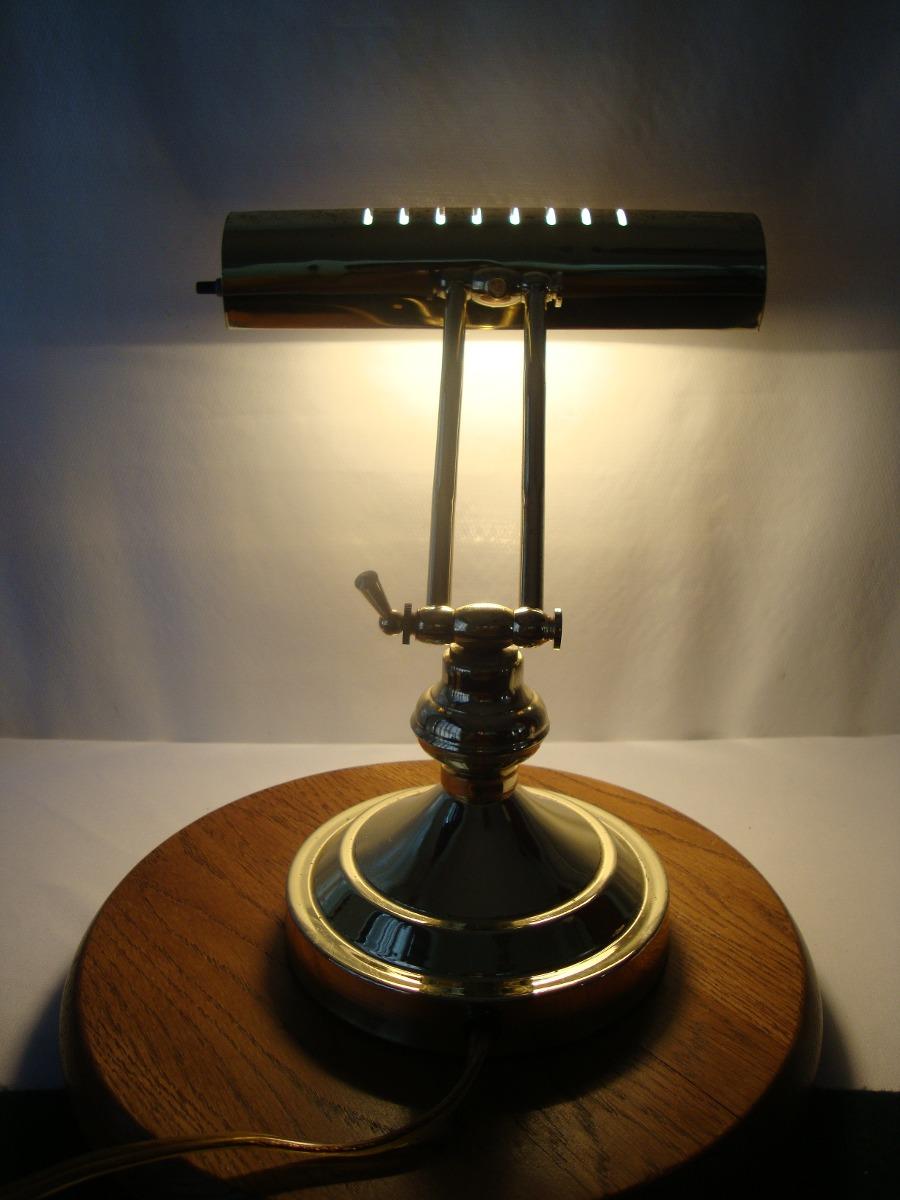 Lampara escritorio o de piano vintage dorada en - Lamparas de escritorio ...