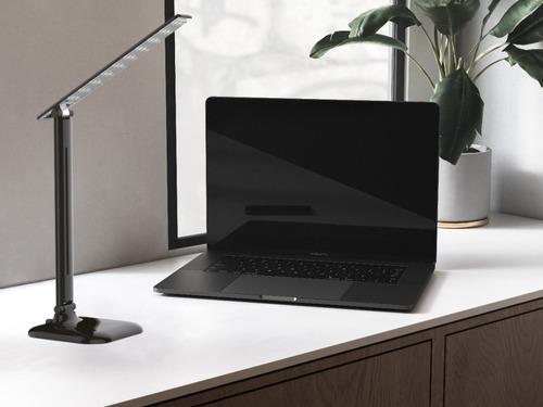 lámpara  escritorio stonewall  10w frío negro deco cuotas