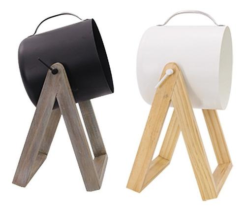 lámpara escritorio velador moderna escandinava nordica rufo