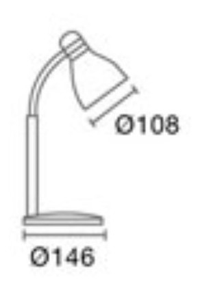 lampara escritorio vs colores pipo candil apta foco led e27