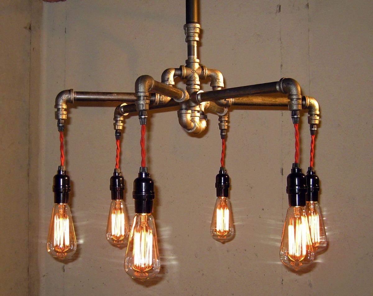 lampara estilo industrial vintage bs en. Black Bedroom Furniture Sets. Home Design Ideas