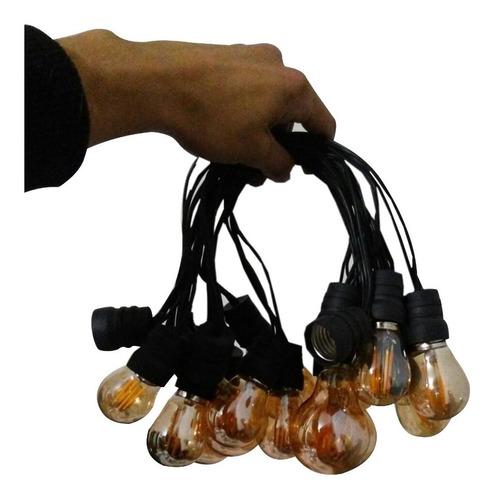 lampara extension de bombillos vintage