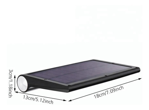 lampara exterior panel solar sensor movimiento 42 led ip65