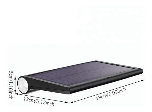 lampara exterior panel solar sensor movimiento 42 led x 2 un