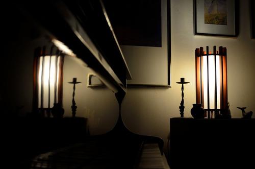 lampara fanal piso madera 1 luz diseño