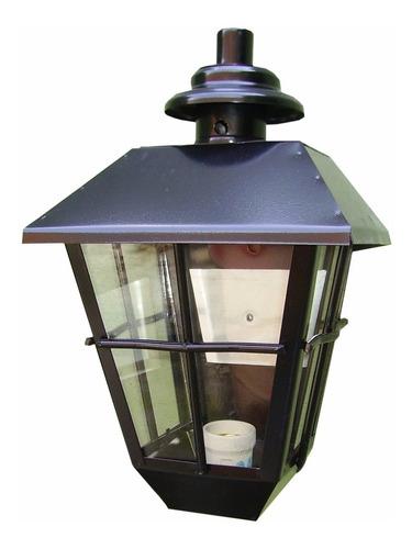 lampara farol pared en hierro para exterior apto led 834