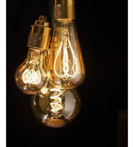 lampara filamento led flexible 5w globo golden g125 dimeriza