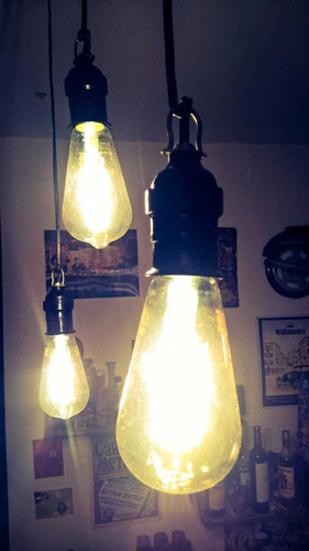 lámpara filamento led pera vintage e27 7w ambar - candil