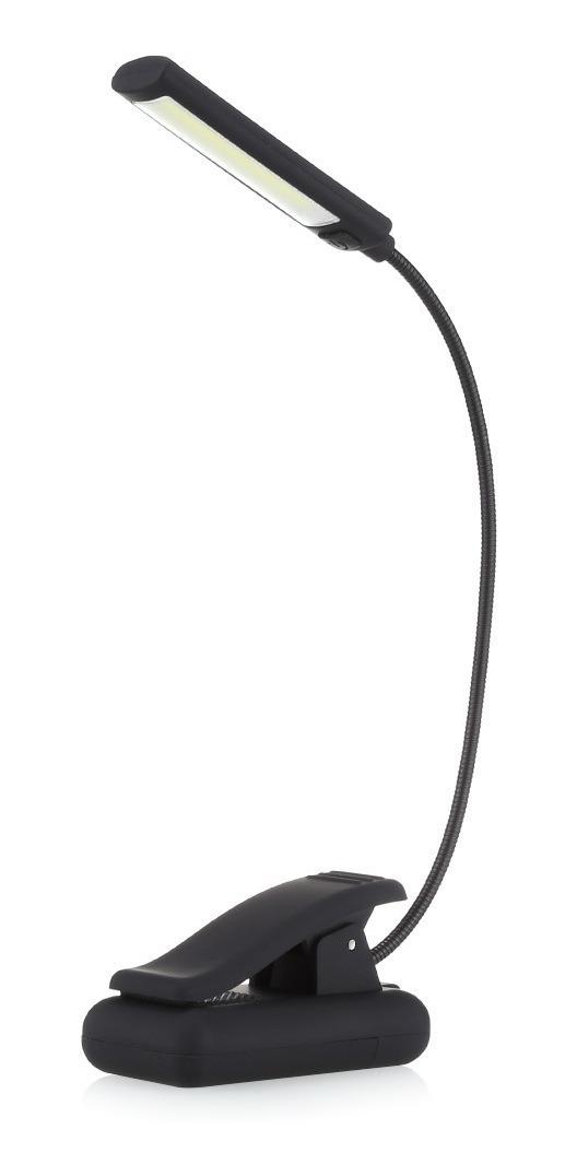 MXECO L/ámpara de noche de libro con cuello de luz LED flexible ajustable para lectura de estudio