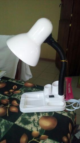 lampara flexible de mesa escritorio oficinas porta lápices