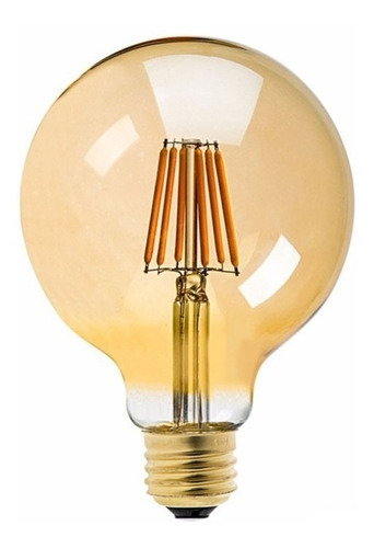 lampara foco bombilla filamentos led 8w g95 dimerizable