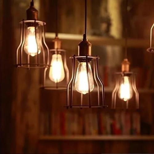 lámpara foco filamento led 5w pera vintage st58 e27 cálida deco estilo retro rosca común edison sieteiluminacion