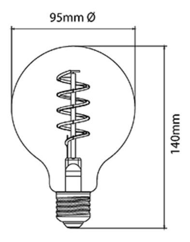 lámpara foco filamento luz led vintage e27 cálida deco retro