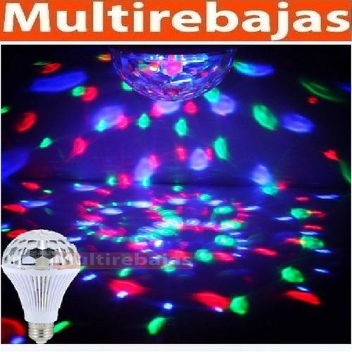 lámpara foco giratoria multicolor bombillo ideal para fiesta