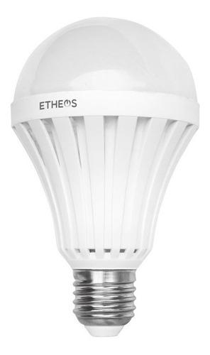 lampara foco led 9w autonoma emergencia luz fria 720 lumenes