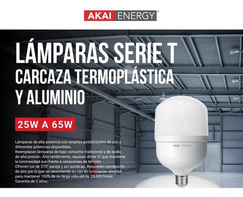 lámpara foco led alta potencia galponera 45w 220v e27 akai