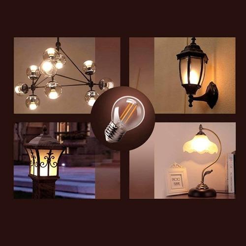 lámpara foco led retro vintage 4 filamentos blanco ambar