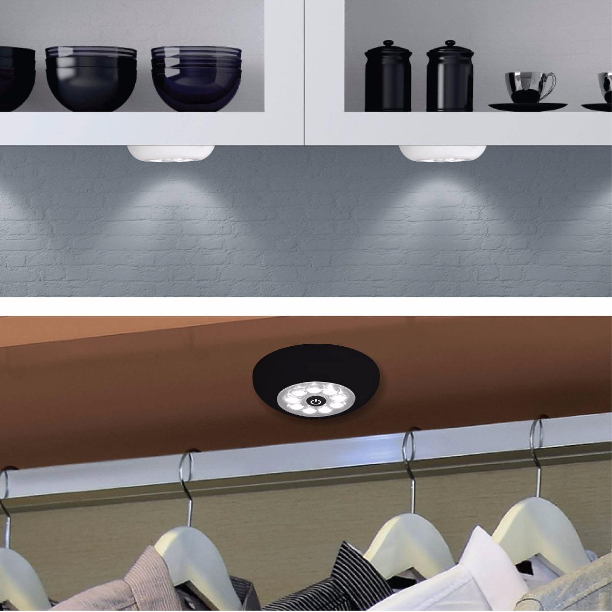 Lampara foco luz led para cocina closet pilas incluidas - Focos led cocina ...