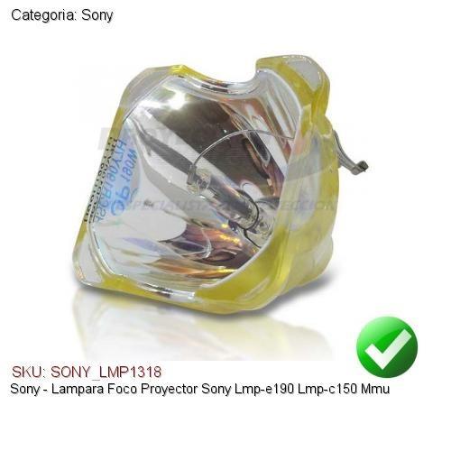 lampara foco proyector sony lmp-e190 lmp-c150 mmu
