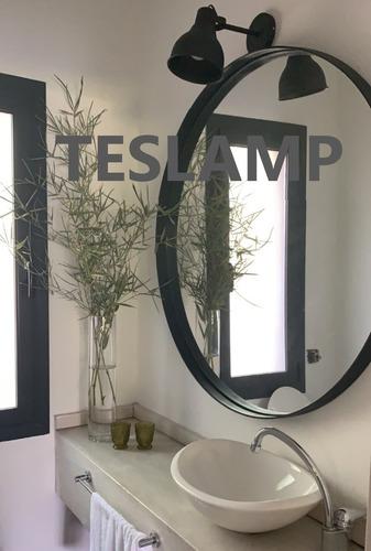 lampara galponera industrial aluminio aplique pared chico