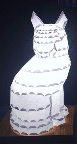 lampara gato sentado - led - animales - paper