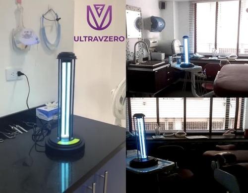 lampara germicida de desinfección con luz uvc con ozono 38w