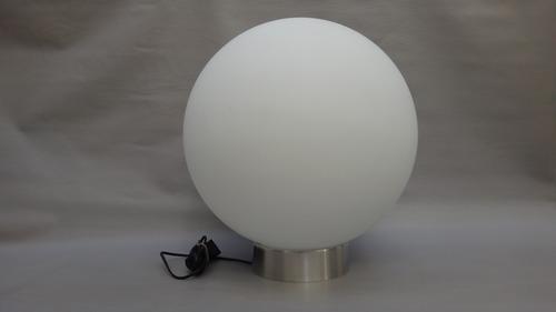lampara globo 40cm opal satinado-base platil- gran tamaño