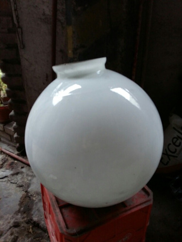 lámpara globo esfera colgante de vidrio opal
