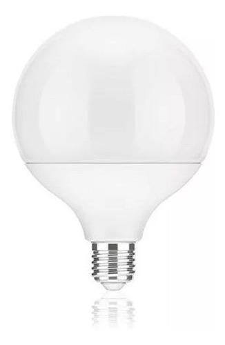 lampara globo foco led grande blanco 18w rosca e27 12cm diam
