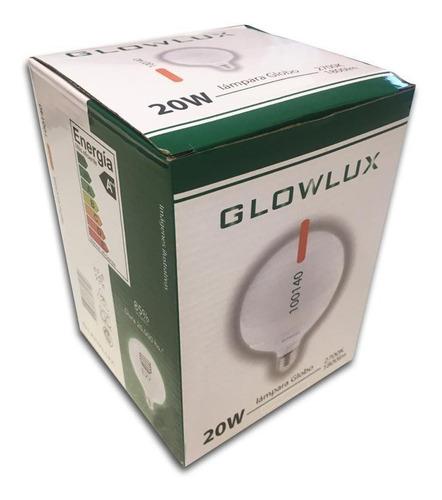 lampara globo led 20w cálida 3000k - glowlux - elect. avella