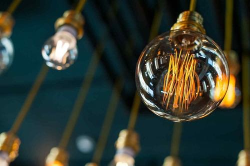 lámpara globo led filamento g120 8w 840lm e27 calida