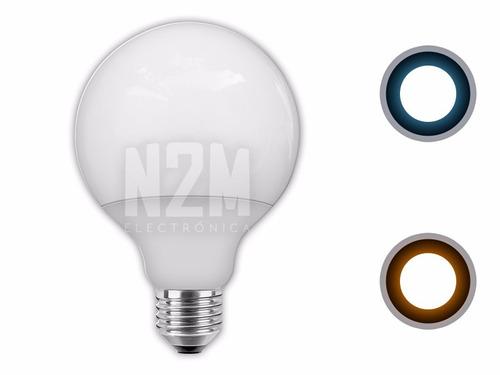 lampara globo led foco 15w = 150w rosca e27 blanco c/f n2m