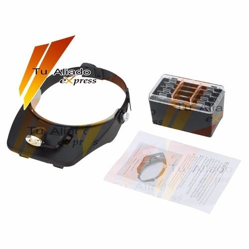 lampara gorra careta lupa luz led 4 lentes servicio tecnico