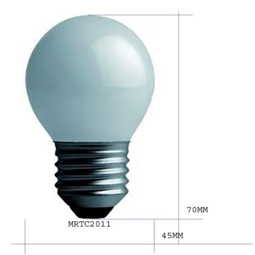 lampara gota 24w-25w incandescente guirnaldas