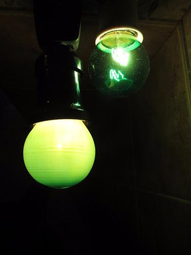 lámpara gota color 15w azul verde amarillo rojo - guirnalda
