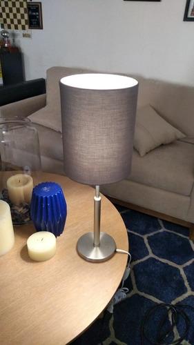 lámpara gris de buró casa u oficina marca mobica 2 de 2