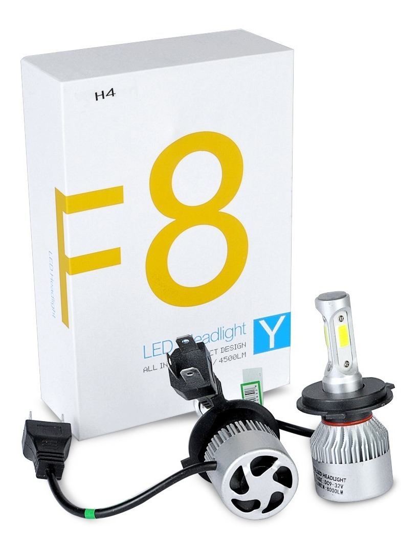 45w F8 Led Headlight Cree 8000 Lumenes H4 Lampara 1KJcTFl