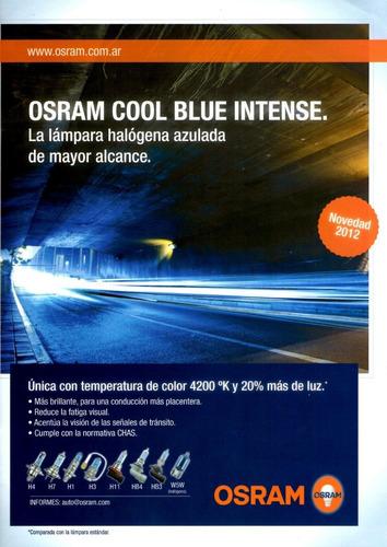 lampara h7 osram cool blue intense 4200 k - 12v 55w