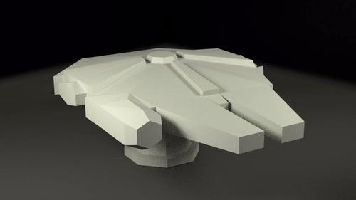 lampara halcon milenario poligonal - star wars - led - paper