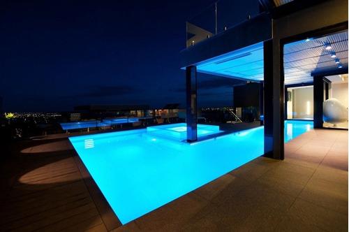Lampara iluminaci n foco led para albercas piscina jacuzzi 2 en mercado libre - Foco led piscina ...