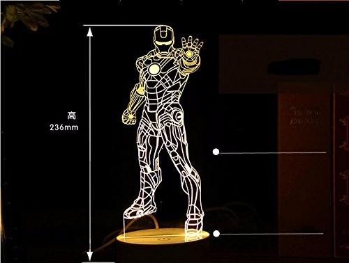 Lampara Ilusion Optica Led Visualizacion En 3d Iron Man