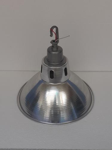 lampara industrial aluminio tipo campana de 14 galpones