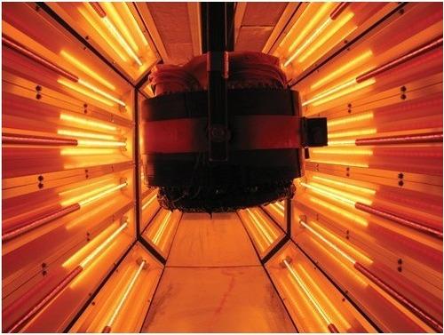 lampara infrarroja ruby 99 cm 1100 w 220v p/ hornos pintura