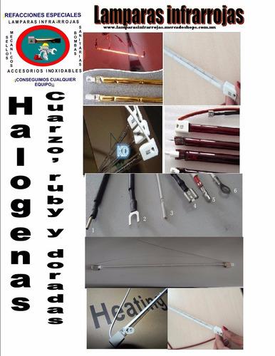 lampara infrarroja sk15 1600w 480v 60.6cm transp c/reflector