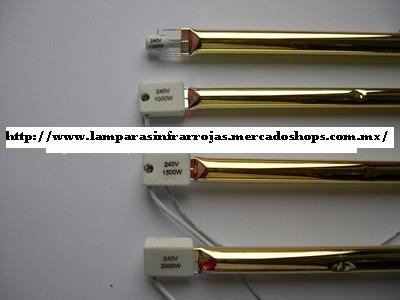 lampara infrarroja sk15 2000w 220v 76cm transp c/reflector