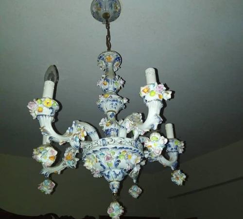 lampara italiana de capodimonte