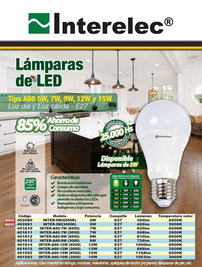 0430bfe5b53 lámpara led 12w - 220vca - luz fria - pack x 10 unidades. Cargando zoom.